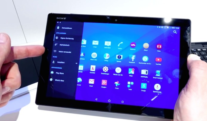 Sony Xperia Z4 Tablet Hands on