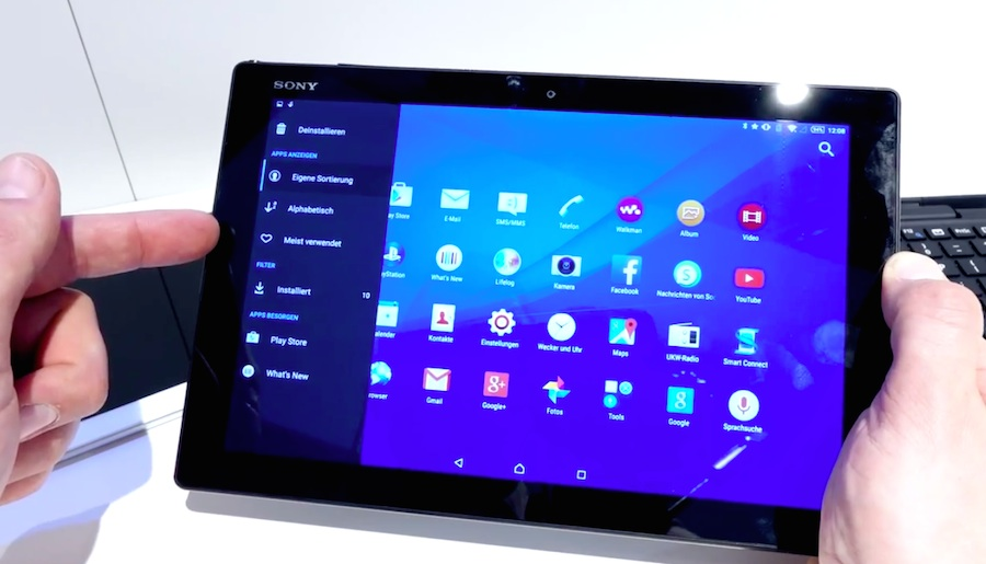 Sony Xperia Z4 Tablet im Hands-on Video