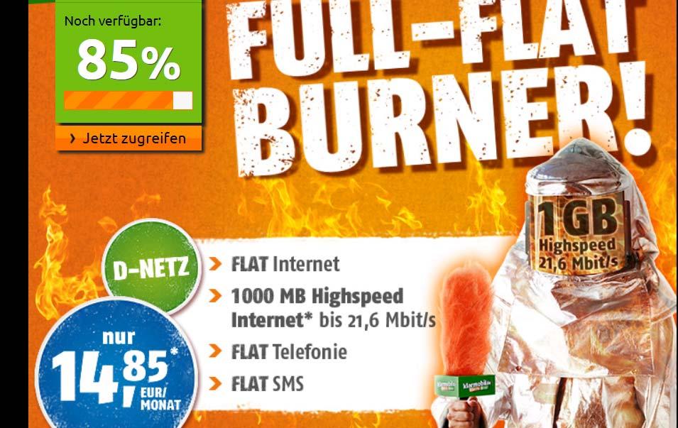 DEAL: D1 Allnet Flat mit 1GB für 14.85 Euro
