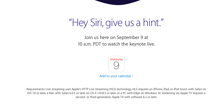 Hey Siri, give us a hint – Apple-Event am 9.9.